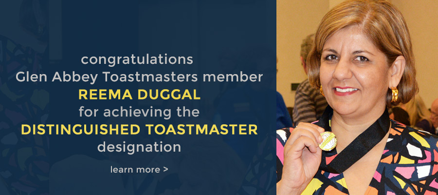 Congratulations Reema Duggal – Distinguished Toastmaster