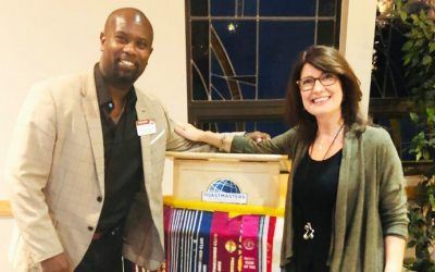District Champion Roger Caesar visits Glen Abbey Toastmasters