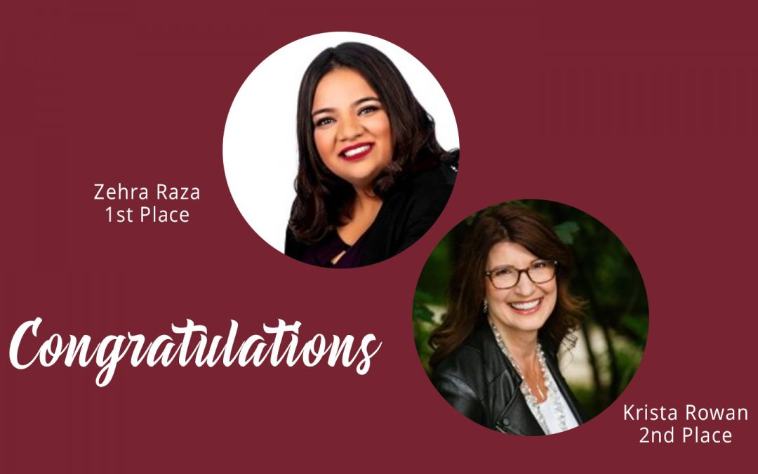 Congratulations Zehra Raza and Krista Rowan!