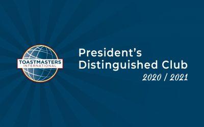 President's Distinguished Club – 2020/2021